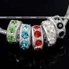 Wholesale Colorful Rhinestone Crystal Spacer Bead DIY Metalic Alloy Craft Pretty