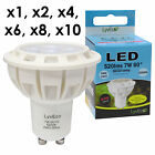 7W LED GU10 LYVECO 6200K COOL DAYLIGHT 520LMS NON DIMMABLE - NEW