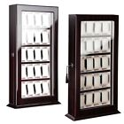 Deluxe 20 Watch Wood Display Wall Case Stand Storage Organizer Holder Box Hang