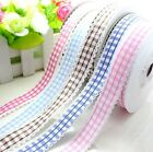 """5-20yards 3/4""""(20mm) Printed Grid Lace Polyester Ribbon L2179-2184"""