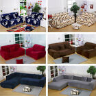 Thick Plush Stretch Fit Sectional / L-Shaped Sofa Slip Covers for 1 2 3 4 seater