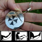 Metal Retractable Key Chain Card Badge Holder Steel Recoil Ring Belt Clip New