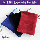 Luxury 100 Double Sided Velvet Gift Pouch-12x16cm-Rectangle-New