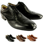 Mens H By Hudson Francis Brogue Lace Up Smart Leather Shoes New UK Sizes 7-13