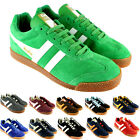 MENS GOLA HARRIER PREMIEM STRIPE LACE UP SUEDE LOW TOP SNEAKERS UK SIZES 8-12