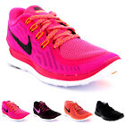 Womens Nike Free 5.0 Low Top Fitness Gym Running Sports Active Trainers UK 3-8