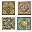 Set of 4 Oriental Design Tile Coasters - Choose Your Tile Colour