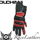 SALE CHEAP DUCHINI TRAX BLACK RED MOTORCYCLE MOTORBIKE LEATHER SUMMER GLOVES