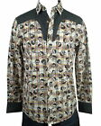 Rock Roll n Soul Rock Western Shirt Skulls of the West