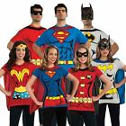 ADULT SUPERHERO LICENSED DC COMICS BOOKS TSHIRT T SHIRT FANCY DRESS COSTUME