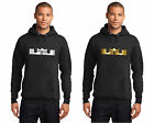 New Mens Hoodie Matches Lebron Nike 11 Elite Shoes Metallic Shiny Silver or Gold