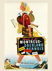 Switzerland Travel Oberland Montreus Bernois Europe Vintage Poster Repro FREE SH