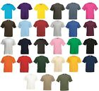 5 Pack Men's Fruit of the Loom Value Weight T-Shirt Plain Crew Neck Tee TShirts