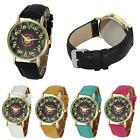 Women fashion Faux Leather special Analog Quartz vintage gift Sports Wrist Watch