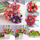 21 Head Rose Fake Artificial Silk Flower Wedding Party Bridal Bouquet Home Decor
