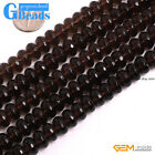 Natural Rondelle Faceted Smoky Quartz Jewelry Making Gemstone Loose Beads 15""