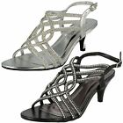 LADIES ANNE MICHELLE STRAPPY DIAMANTE SANDLES STYLE F10477