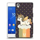 HEAD CASE DESIGNS FANCY UNICORNS 2 CHUBBY COLLECTION BACK CASE FOR SONY PHONES 1