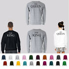 The King / His Queen Premium Quality Sweatshirts ALL SIZES AND COLORS AVAILABLE