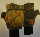 NWT Men's Camo Fingerless Gloves Realtree Shooting Gloves Quiet Tricot Fleece