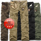 Solid Military Army Fatigue  Tactical Combat Cargo Pants Trousers Casual