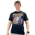 Masters of the Universe Group Distressed Print Black Adult T-shirt