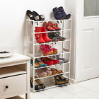 7 Tier Black White Shoe Heels Trainers Storage Rack Organiser Shelve Stand
