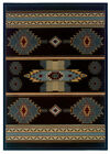 "Southwestern Smoke Blue Striped Carpet 5x8 Navajo Area Rug : Actual 5'3""x7'6"""