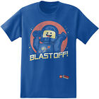 Lego Movie Blast Off Astronaut Official Licensed Adult T-Shirt - Blue