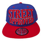 Baseball State Property Street Approved Blue Red Flatpeak Snapback Cap Hat
