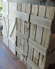 "Rustic Barn Wood Shutters For Our 23.5"" X 33"" Barn Wood Mirror (24 Colors)"