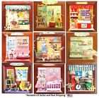 Dollhouse Miniature DIY Kit 3D Picture Frame Wall Decoration with Room Scene