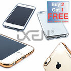 LUXURY Soft Gel TPU Silicone METALLIC MIRROR EDGE Case Cover for iPhone 6 6 Plus