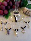 Set of 6 Wine Glass Charms ~ The Beatles, February 9,1964 The Ed Sullivan Show