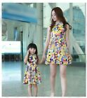 Family clothes New Summer Fashion Mother Daughter Dresses women Girls kids dress
