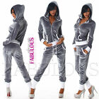 SEXY WOMEN'S TRACKSUIT SET ACTIVE SPORTS GYM JOGGING WEAR PANTS HOODIE Size 6-8