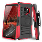 For Samsung Galaxy S7 / S7 Edge Rugged Hybrid Armor Hard Case Belt Clip Holster