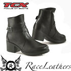 NEW TCX X-BOULEVARD LADIES WOMENS BLACK SHORT MOTORCYCLE MOTORBIKE BOOTS