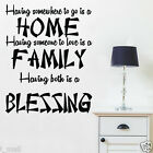 FAMILY Inspiration Quote Removable Wall Sticker Vinyl Decal for Home