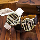 Piano Musical Note Quartz Watches Womens Fashion Faux Leather Strap Wristwatch