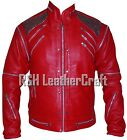 Michael Jackson MJ Beat It Leather Jacket (Red,  Black or White Color Option)
