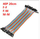 Внешний вид - 40pcs 20cm Jumper Wire Dupont Cable Dupont Line For Arduino F/F F/M M/M