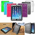 Apple iPad Full Back Case Cover with Screen Protector Shockproof Defender Bumper