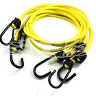 YELLOW LUGGAGE ELASTICS, BUNGEE STRAPS SHOCK CORD METAL SPIRAL HOOK ENDS ARMY