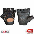 Gogi Leather/Net Cycling Weight Ligfting Training Sports Wheelchair Gloves 6002