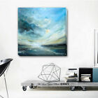 Sea & Sky Abstract Stretched Canvas Print Framed Wall Art Painting Decor Gift