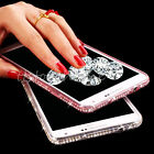 Luxury Ultra Thin Crystal Diamond Bling Gel Case Cover for Samsung Galaxy Phones