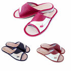 New Womens Ladies 100% Natural Leather Slippers Red Size3 4 5 6 7 8 Present Gift