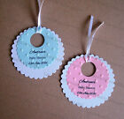 10 x Personalised Baby Shower Date Tags Favours Invite