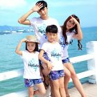 New Family Holiday Girls Boys sets t shirt  Pants Summer women clothes outfits